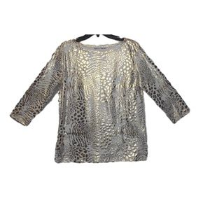 Rebecca Malone Women's Gold Foil Print Top